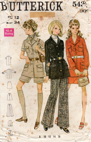 butterick 5430 60s safari suit