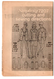 Simplicity 7207 Womens Jacket Skirt Pants & Shorts 1960s Vintage Sewing Pattern Size 12 Bust 32 inches