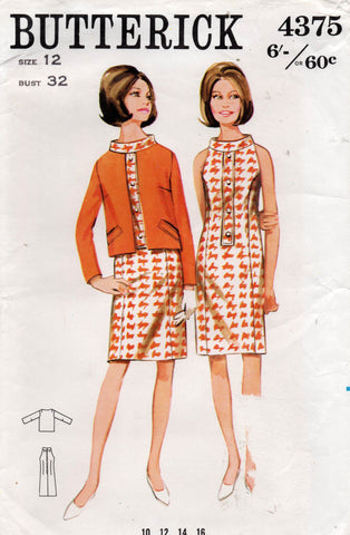 butterick 4375 60s dress and jacket