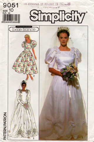 simplicity 9051 80s wedding dress