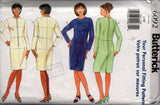 Butterick 6092 Womens PLUS Sized Personal Fitting Shell & Dress 90s Vintage Sewing Pattern Size 24 Bust 46 inches UNCUT Factory Folds