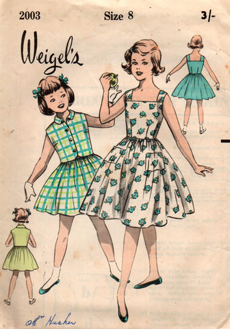 Weigel's 2003 50s girls dress and bolero