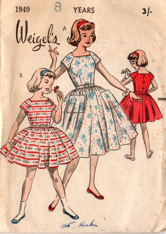 Weigel's 1949 50s girls dress