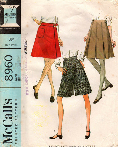 McCall's 8960 60s skirts skort culottes