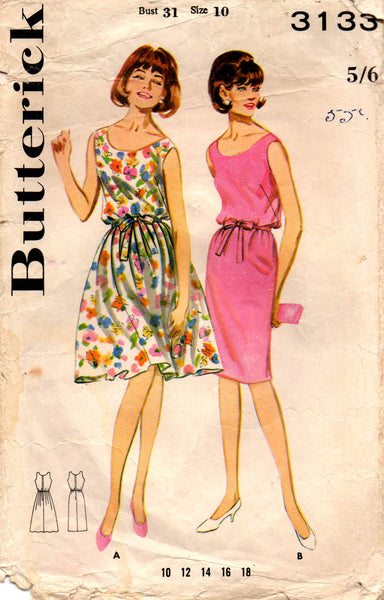 butterick 3133 teen 60s dresses