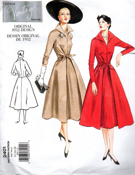 Vogue V2401 50s reissued coatdress