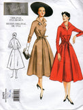 Vogue V2401 Womens Fit & Flare Dress with Waist Ties Reissued 50s Sewing Pattern Size 12 14 16 or 18 20 22 UNCUT Factory Folded