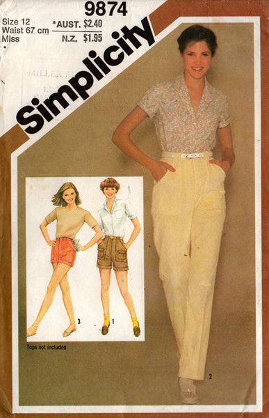 Simplicity 9874 80s pants and shorts