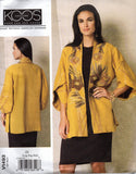 Vogue American Designer 1493 KOOS Womens Tulip Sleeved Kimono Jacket Sewing Pattern Sizes XS S M, L XL XXL UNCUT Factory Folded