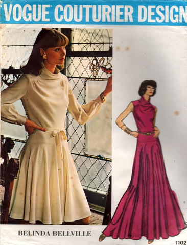 vogue 1102 belinda bellville dress 70s