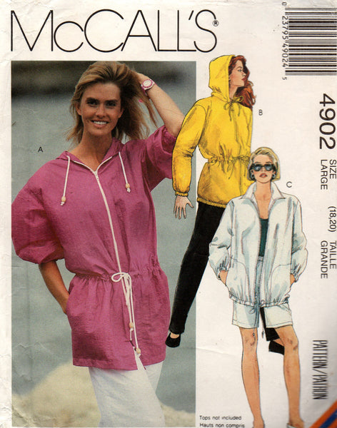 McCall's 4902 90s jacket pants and shorts