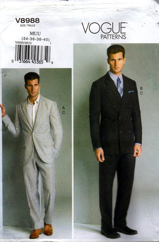 Vogue 8988 mens suit