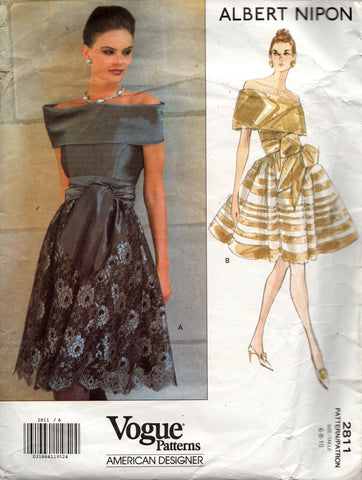 Vogue 2811 albert nipon 90s dress