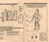 Butterick 1362 Womens Scalloped Trim Dress & Jacket 1940s Vintage Sewing Pattern Size 14 Bust 32 inches