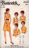 Butterick 6136 70s dress collar variations