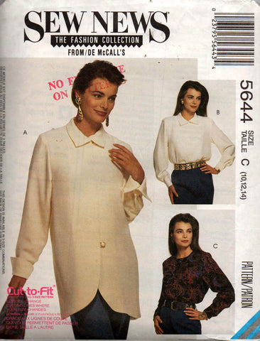 McCall's 5644 90s blouses