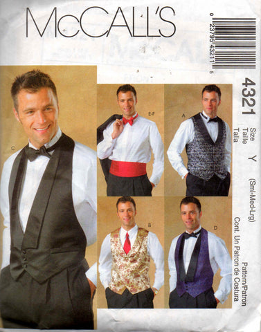 McCalls 4321 mens wedding accessories