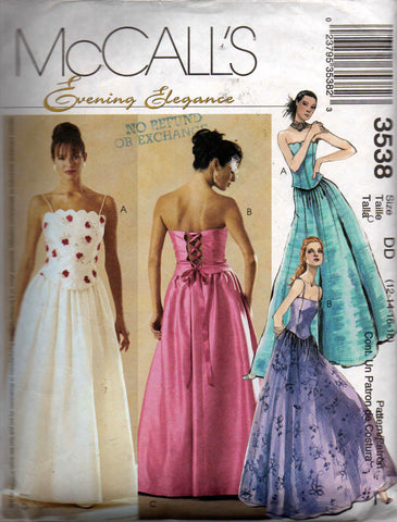 McCall's 3538 evening 2 pc dress