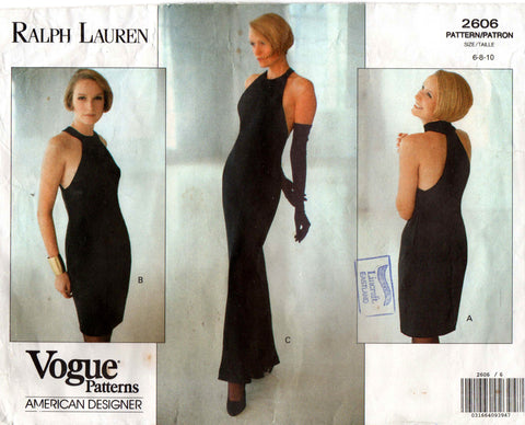 Vogue 2606 Ralph Lauren Dress