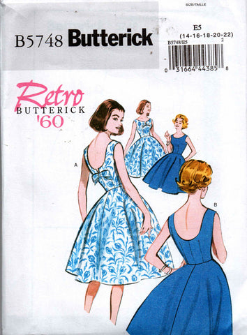 Butterick 5748 reissue dress 1960
