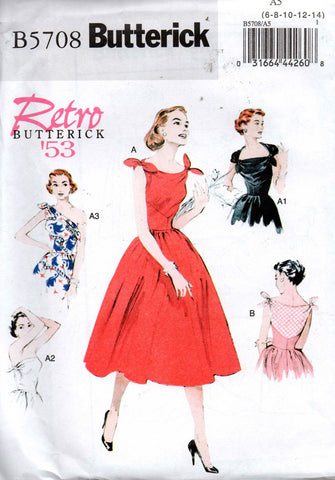 Butterick B5708 50s reissue dress
