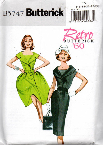 Butterick 5747 1960 repro dress
