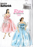 Butterick B 6454 Womens Full Skirted Wedding Prom Formal Special Occasion Dress 50s Reissue Sewing Pattern Size 6 8 10 12 14 UNCUT Factory Folded
