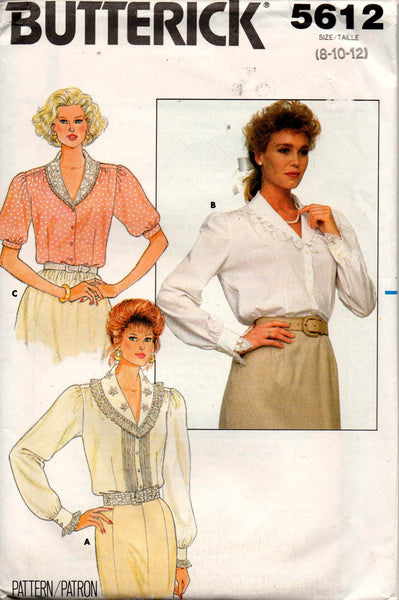 Butterick 5612 80s blouses