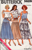 Butterick 5609 80s skirts
