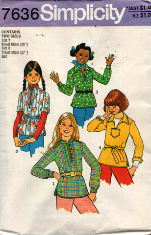 Simplicity 7636 girls tops