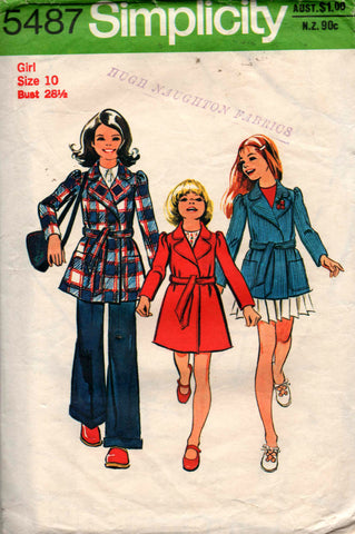 Simplicity 5487 Girls 70s coat