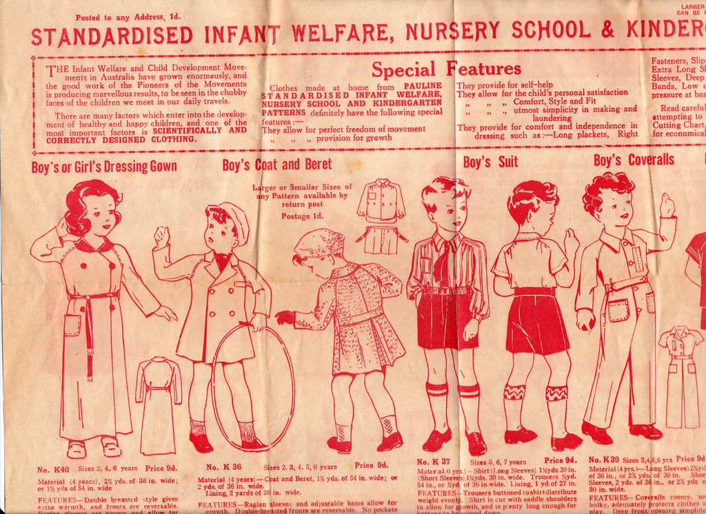 8c1a35fe2ea7 Pauline 43 Baby Rompers 1940s Vintage Sewing Pattern Size 10-18 months