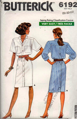 Butterick 6192 80s dress