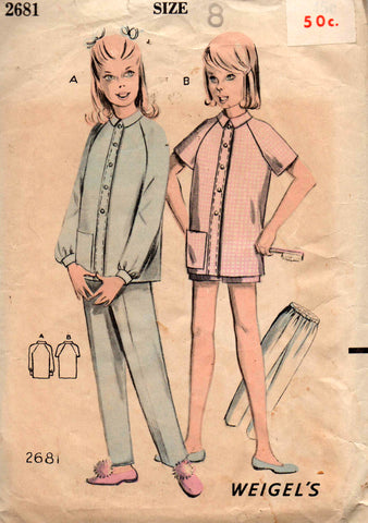 Weigels 2681 girls pajamas