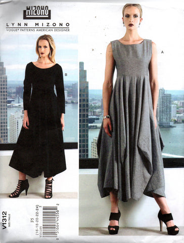 Vogue V1312 LYNN MIZONO Designer Pullover Tent Dress Sewing Pattern Size 16 - 24 UNCUT Factory Folds