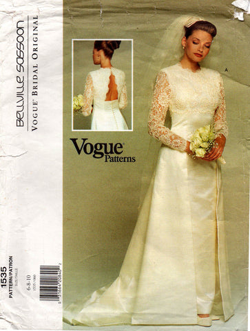 Vogue 1535 designer 90s wedding dress