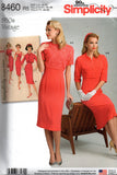 Simplicity 8460 Womens 50s Reissued Sheath Dress & Bolero Sewing Pattern Size 14 - 22 UNCUT Factory Folds