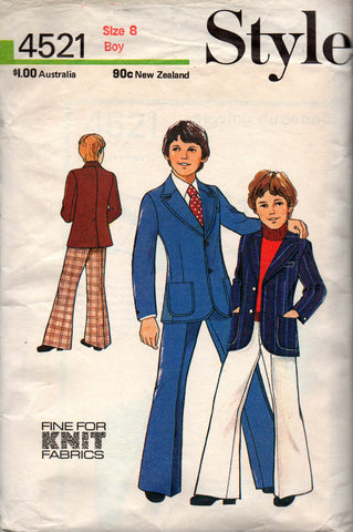 Style 4521 boys 70s blazer and pants