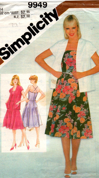 simplicity 9949 80s sundress and jacket