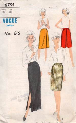 Vogue 6791 60s skirts