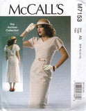 McCall's 7153 V neck dress and belt