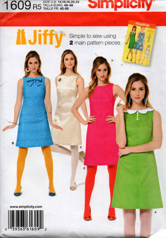 Simplicity 1609 60s reissued dress
