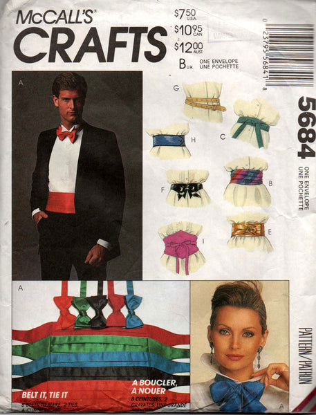 mccall's 5684 wedding accessories 90s