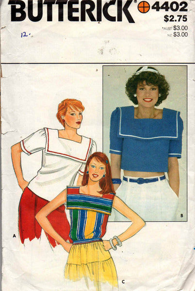 Butterick 4402 sailor tops