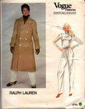 Vogue 2784 Ralph Lauren Coat Pants