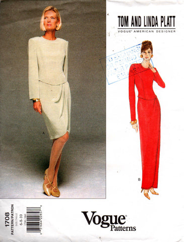 Vogue 1708 tom and linda platt dress