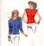 Kwik Sew 1602 Womens Pullover Stretch Tops 1980s Vintage Sewing Pattern Size XS - L UNCUT Factory Folded