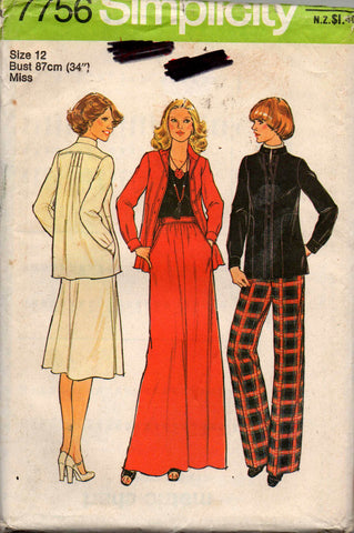 Simplicity 7756 pants skirts jacket