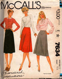McCall's 7634 80s wrap skirts