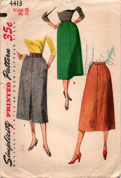 Simplicity 4413 50s skirts